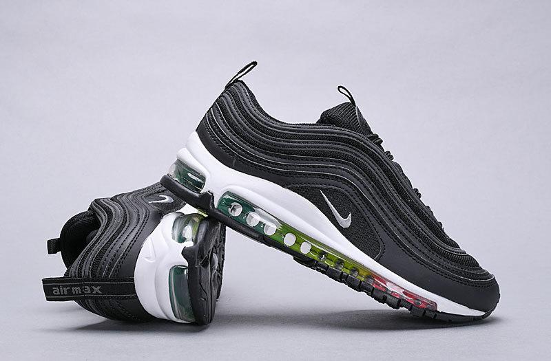 Nike Air Max 97 Triple Black black dark grey 921733 001 Women's Men's Casual Shoes 921733 001A