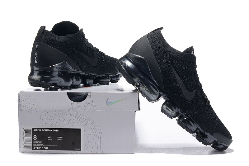 new styles 463f1 403ee Nike Air Vapormax Flyknit 2019 Triple Black Men's Running Shoes  NIKE-ST005100