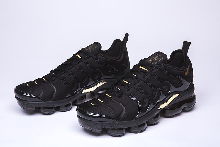 wholesale dealer e9452 f36a7 Nike Air VaporMax Plus TN Black Gold Men's Women's Running Shoes  NIKE-ST005067