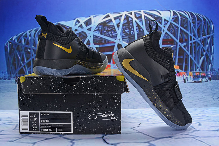 d4ff860d09fa Paul George Nike PG 2. 5 Black Gold Men s Basketball Shoes NIKE ...
