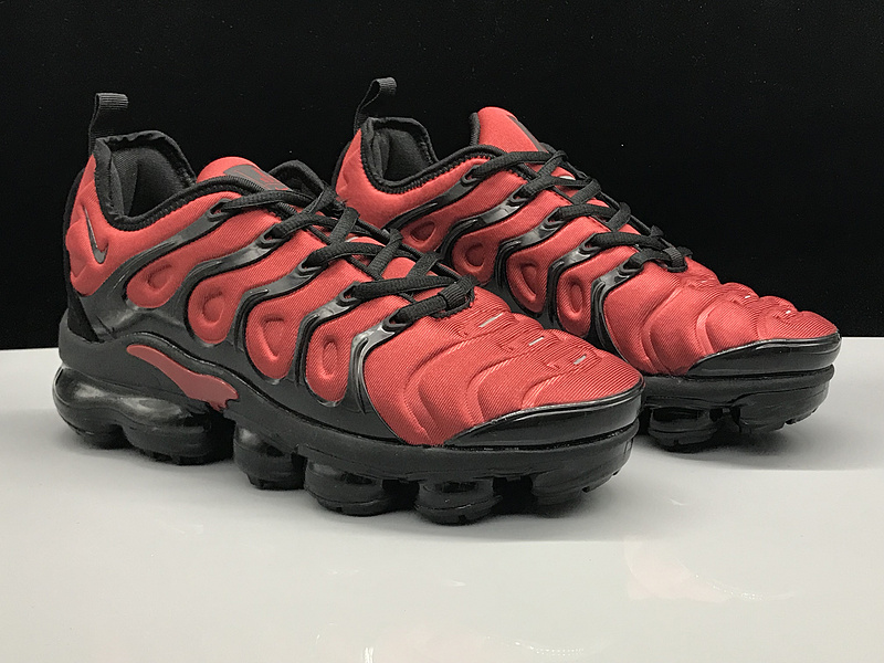 online retailer 59e25 ac4ae Nike Air Vapormax Plus TN October Red Black Men's Women's Running Shoes  NIKE-ST005202