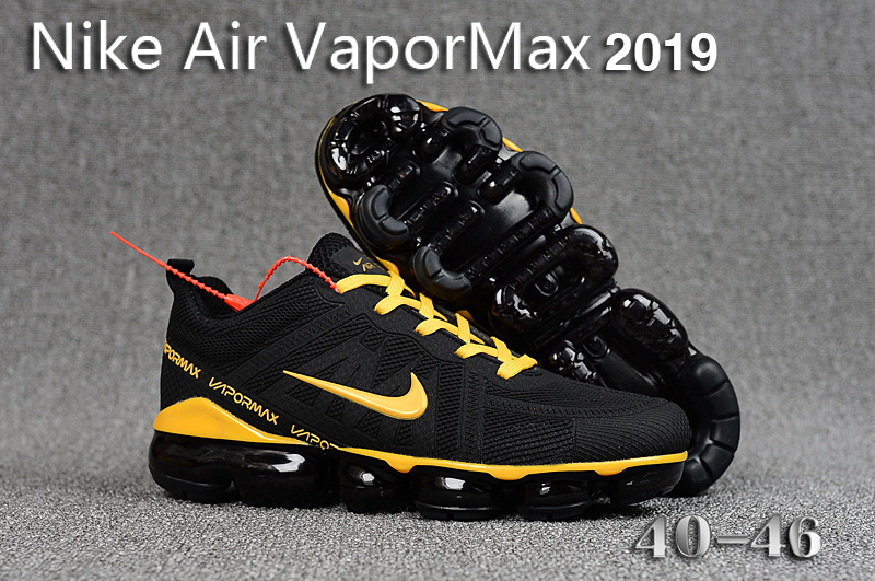 separation shoes 6f3ca 805c4 Nike Air VaporMax 2019 KPU Black Gold Men's Running Shoes NIKE-ST005274