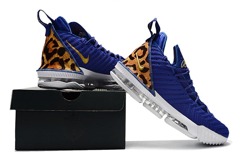 buy popular 8f544 cf9e0 Nike LeBron 16 Men's Basketball Shoes Champion Royal Blue White  NIKE-ST004943