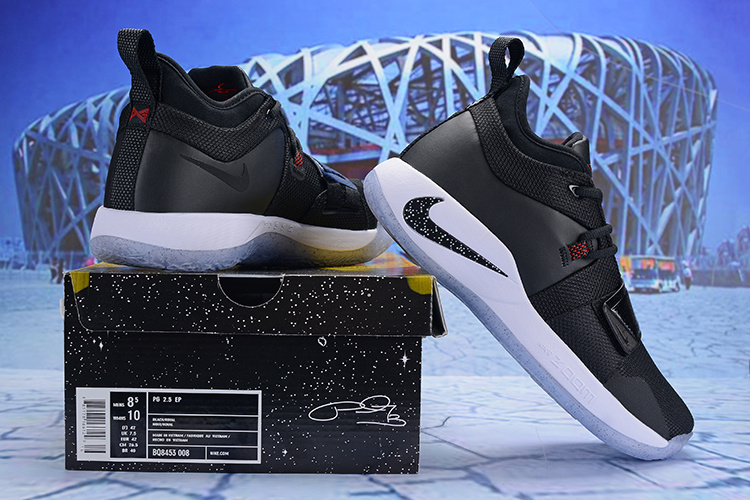 ce1634a64b72 Paul George Nike PG 2. 5 Black White Men s Basketball Shoes NIKE ...