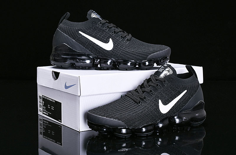 b518b0ac6095d9 Nike Air Vapormax Flyknit 2019 Black White AJ6900-001 Women s Men s ...