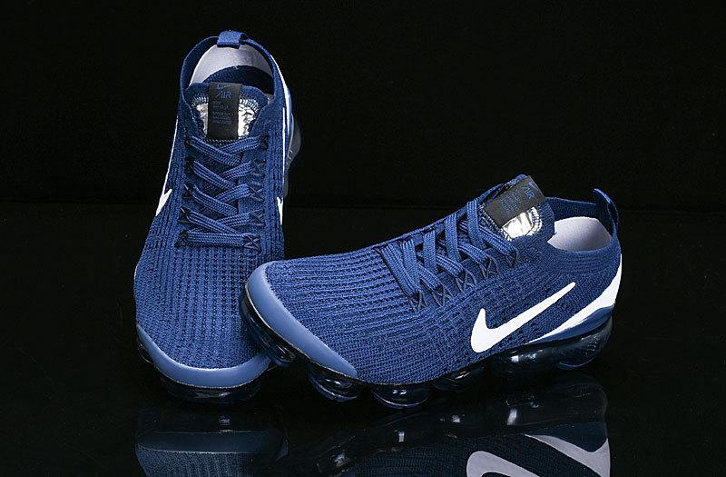 timeless design edda0 61d8a Nike Air Vapormax Flyknit 2019 Navy Blue White AJ6900-400 Women's Men's  Running Shoes AJ6900-400