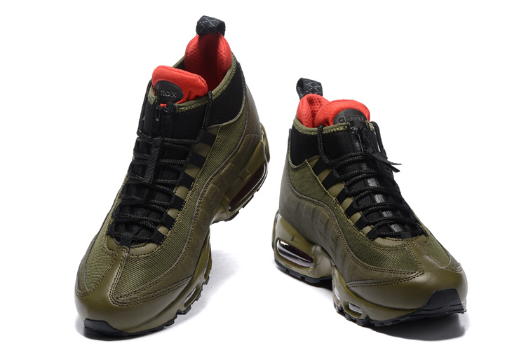 cheap for discount babed 87f93 Nike Air Max 95 Winter Sneakerboot Dark Loden Olive Green 806809 300 Men's  Snow Boots Sneakers 806809-300