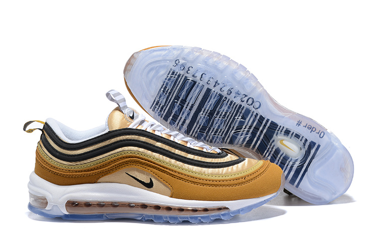 wholesale dealer c5e03 c36a8 Mens Nike Air Max 97 Ale BrownBlack-Elemental Gold Bar Code