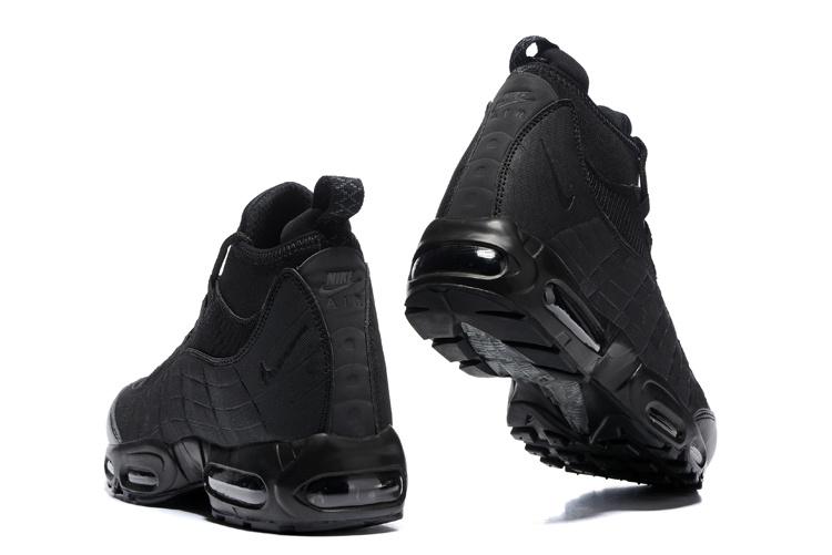 super popular f9e07 788db Nike Air Max 95 Winter Sneakerboot Triple Black 806809 002 Men s Snow Boots  Sneakers