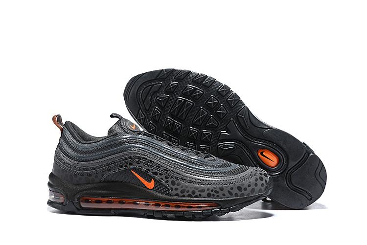Men's Nike Air Max 97 Safari Off NoirOrange TerraceThunder Grey BQ6524 001 Boys Casual Shoes BQ6524 001