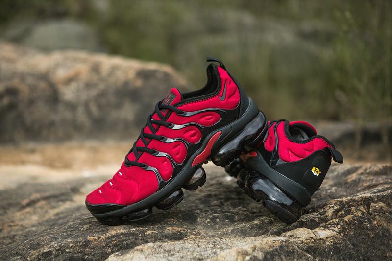 best service e9b76 9afac Nike Air VaporMax Plus TN Red Black Men's Women's Running Shoes  NIKE-ST005068