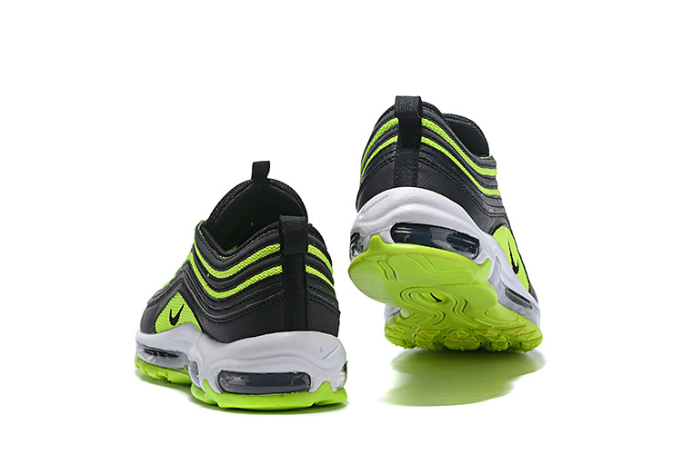 a8039b5252 Men's Nike Air Max 97 Black Neon Green Casual Shoes NIKE-ST005113 ...