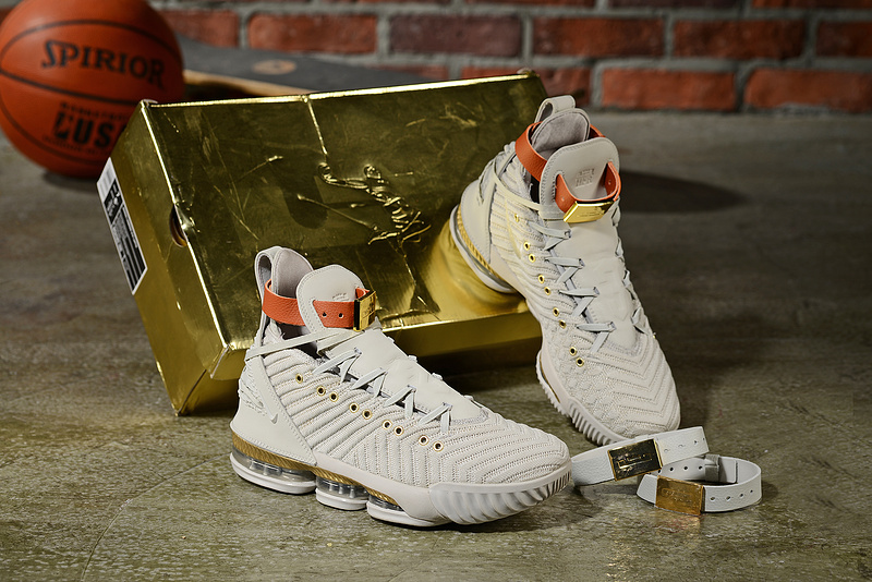 premium selection bae86 39d97 Nike LeBron 16 Xvi HFR Harlem's Sail/White/Light Bone BQ6583-100 Men's  Basketball Shoes BQ6583-100