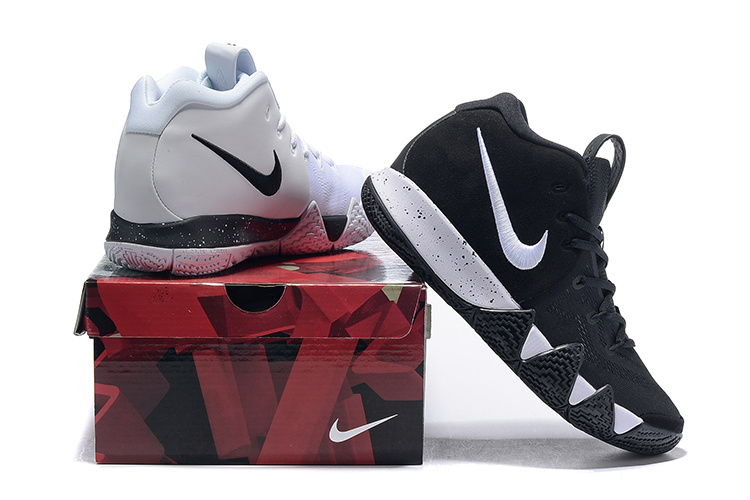 timeless design 61e87 37b67 Nike Kyrie 4 Black White Men's Basketball Shoes NIKE-ST005075