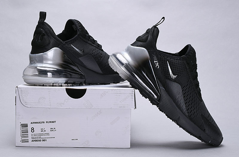 online store 03e95 0872d Nike Air Max 270 Triple Black Spectrum AH8050 001 Women's Men's Casual  Shoes NIKE-ST005138