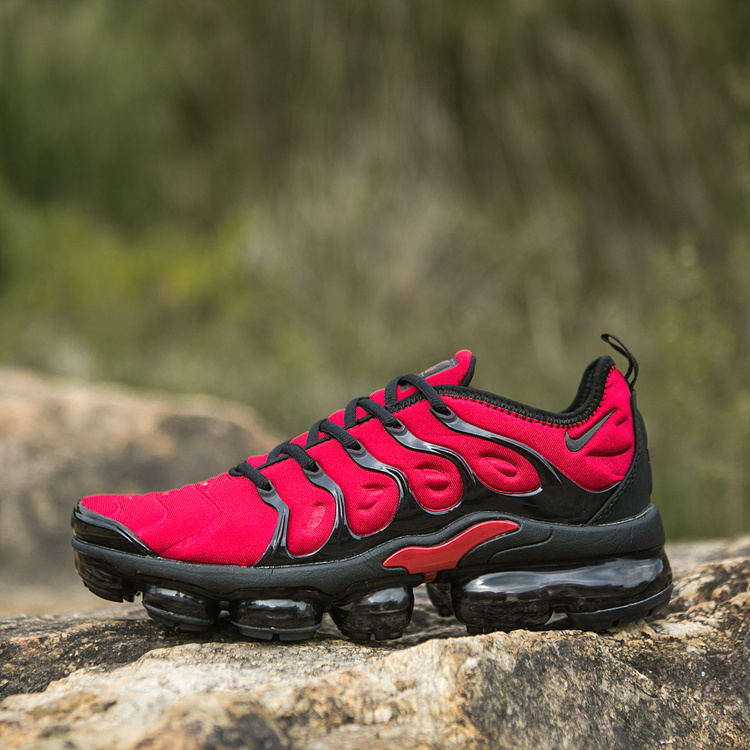 best service 25e42 3f10c Nike Air VaporMax Plus TN Red Black Men's Women's Running Shoes  NIKE-ST005068