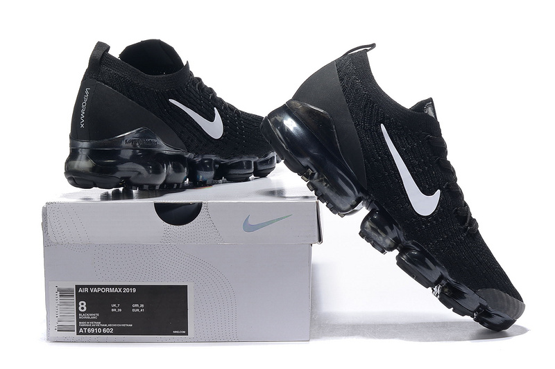 low priced 27523 360e9 Nike Air Vapormax Flyknit 2019 Black White Men's Running Shoes NIKE-ST005105