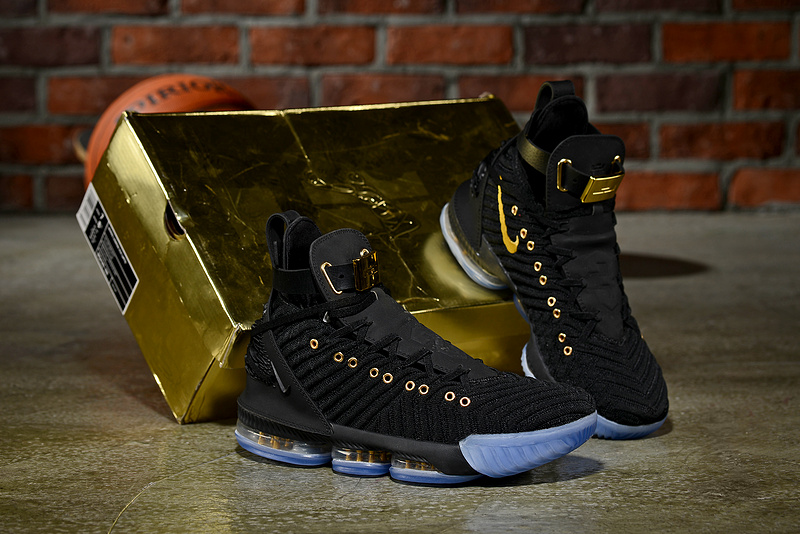 eca47a08552 HFR x Wmns LeBron 16 Nike Black Gold Men s Basketball Shoes NIKE ...