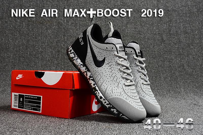 1242cca45f0 Nike Air Max Boost 2019 KPU Wolf Grey Black Men s Running Shoes NIKE ...