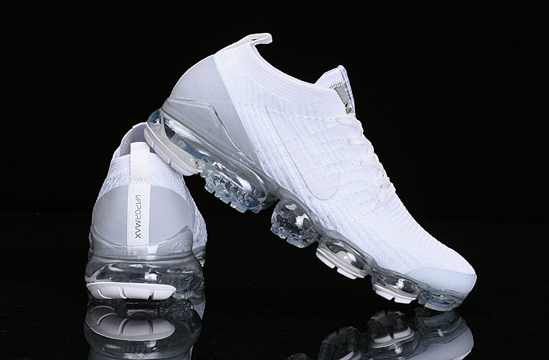 best service a9d80 1e18a Nike Air Vapormax Flyknit 2019 Triple White Grey AJ6900-100 Women's Men's  Running Shoes AJ6900-100