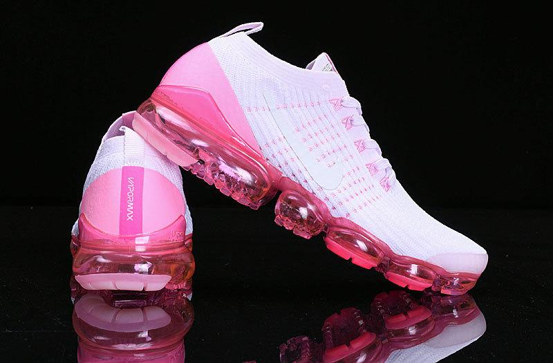 ed953872d5ec Nike Air Vapormax Flyknit 2019 White Pink AJ6900-005 Women s Running Shoes