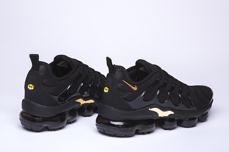 wholesale dealer 15a8f 138f0 Nike Air VaporMax Plus TN Black Gold Men's Women's Running Shoes  NIKE-ST005067