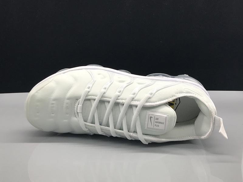 brand new 02f21 3535f Nike Air Vapormax Plus TN Triple White Men's Women's Running Shoes  NIKE-ST005199