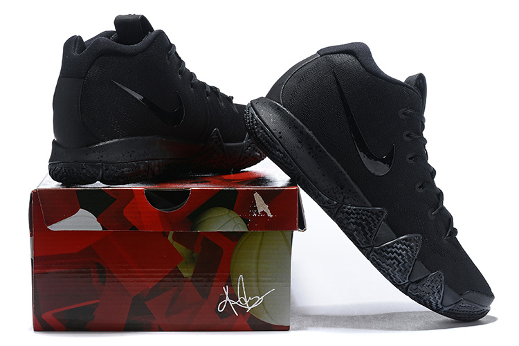 the best attitude 8cb6a 5c269 Nike Kyrie 4 Triple Black Men's Basketball Shoes NIKE-ST005076