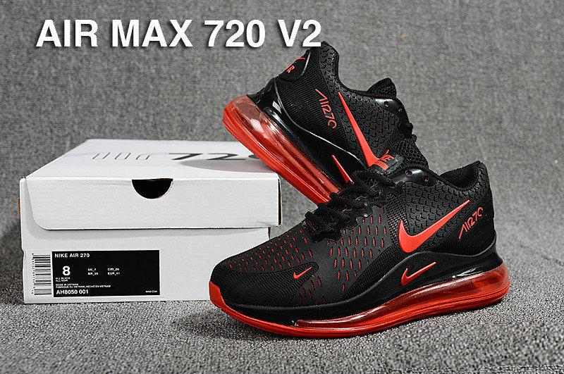 timeless design 6efa4 dc6fc Nike Air Max 720 V2 Kpu Black Red Men's Casual Shoes NIKE-ST005095