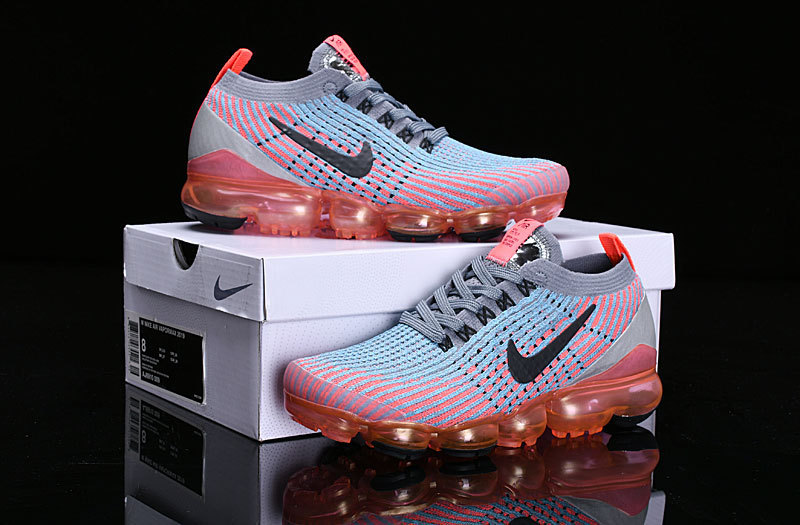 5ac7c7f49564d Nike Air Vapormax Flyknit 2019 Grey Orange Pink Black AJ6900-601 ...