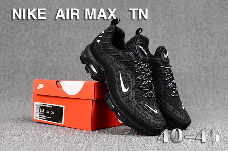 bf68114554 Mens Nike Air Max Tn KPU Black White Running Shoes NIKE-ST005252 ...