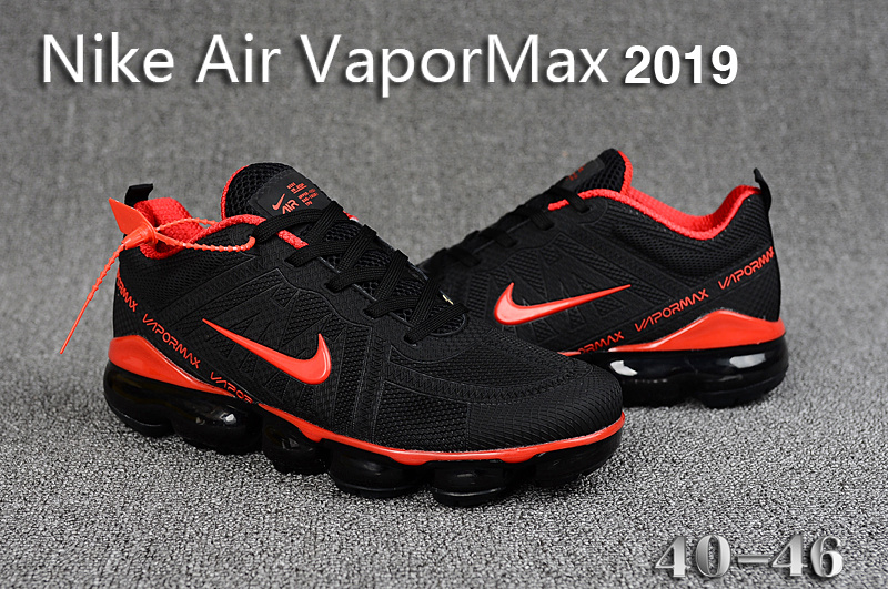 030c588e7ff0c Nike Air VaporMax 2019 KPU Black Red Men s Running Shoes NIKE ...