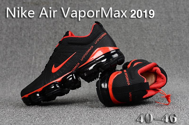1d7cf9472f36 Nike Air VaporMax 2019 KPU Black Red Men s Running Shoes NIKE ...