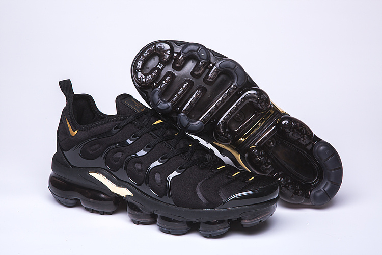wholesale dealer 05f2f 54fa1 Nike Air VaporMax Plus TN Black Gold Men's Women's Running Shoes  NIKE-ST005067