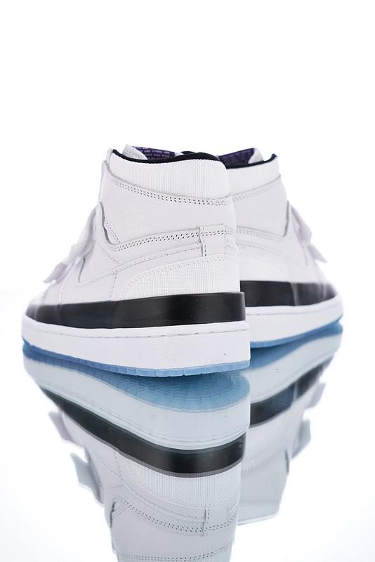 b5310ee68093 Nike Air Jordan 1 Double Strap Concord AQ7924-107 Mens Athletic Basketball  Shoes