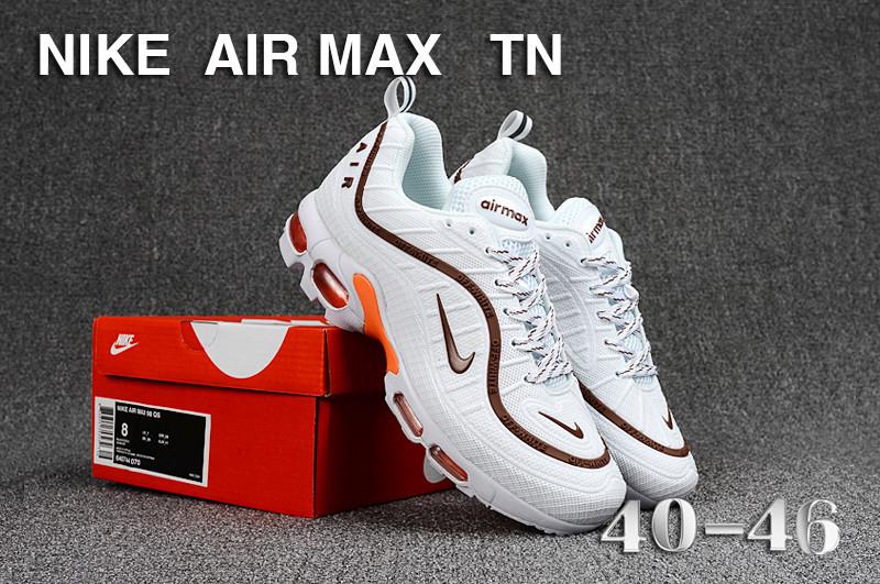 bb829c96387f2 ... ireland mens nike air max tn kpu white brown orange 735e9 40205