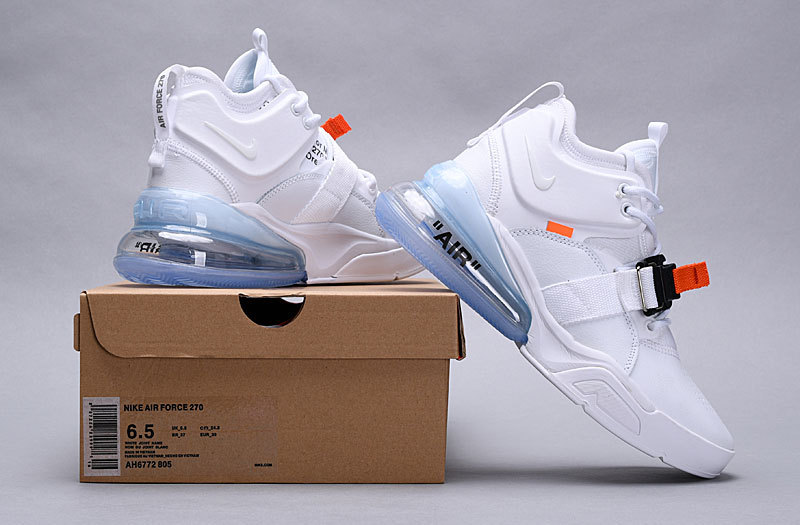 8228708585 Nike Air Force 270 Off White White Black Total Orange AH6772 805 ...