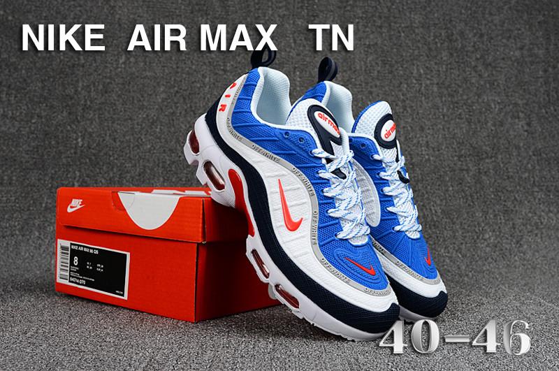 3fff0c126e Mens Nike Air Max Tn KPU Royal Blue White Orange Black Running Shoes ...