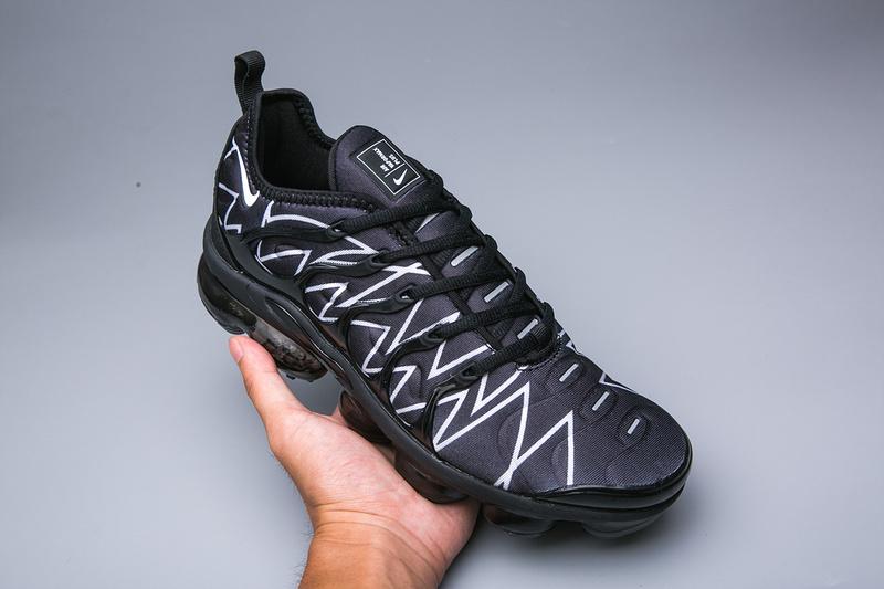 sports shoes c9feb 4a3fe Nike Air VaporMax Plus TN Black White Men's Women's Running Shoes  NIKE-ST005066