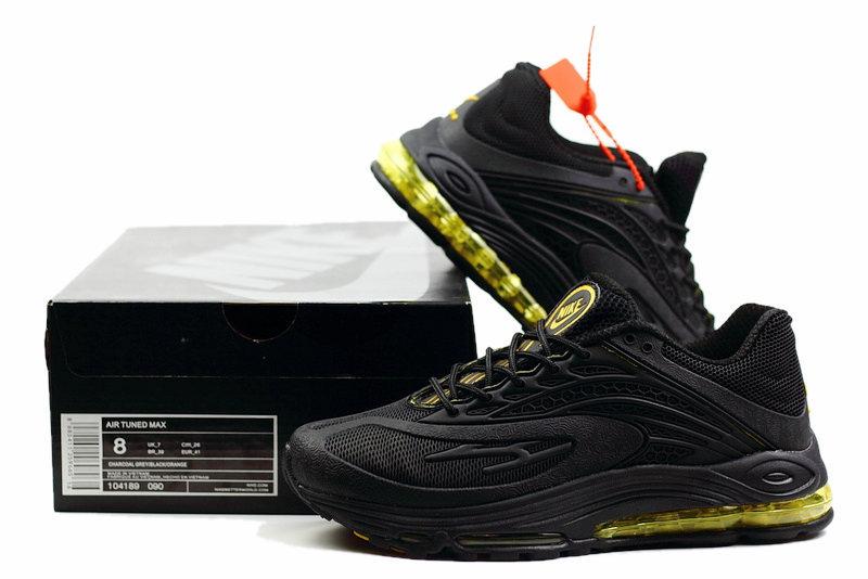 25497e81225928 Nike Air Tuned Max 2019 Kpu Black Gold Men s Running Shoes NIKE ...