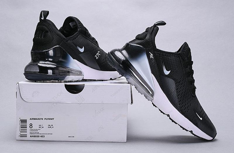 check out 22592 c186a Nike Air Max 270 Black White Spectrum AH8050-403 Women's Men's Casual Shoes  AH8050-403A