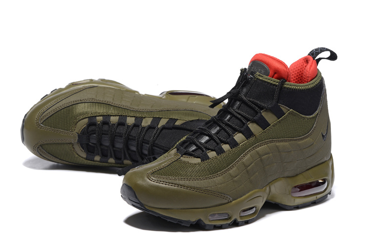 cheap for discount e988b 063d9 Nike Air Max 95 Winter Sneakerboot Dark Loden Olive Green 806809 300 Men's  Snow Boots Sneakers 806809-300