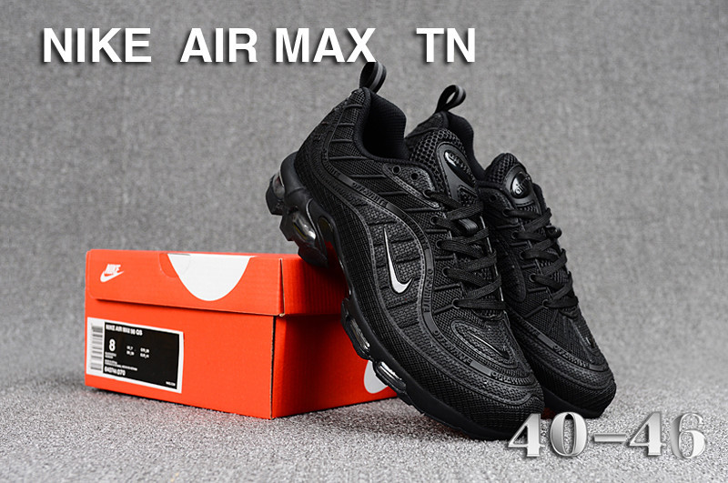 quality design 87f87 4bef6 Mens Nike Air Max Tn KPU Triple Black Running Shoes NIKE-ST005257
