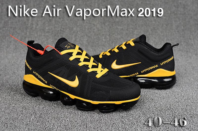 separation shoes 461d9 bc988 Nike Air VaporMax 2019 KPU Black Gold Men's Running Shoes NIKE-ST005274