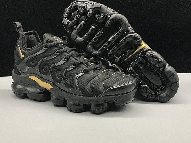 48948ecbf39 ... Max Plus TN Running Shoes›. Nike Air Vapormax Plus TN Black Gold Men s  Women s ...