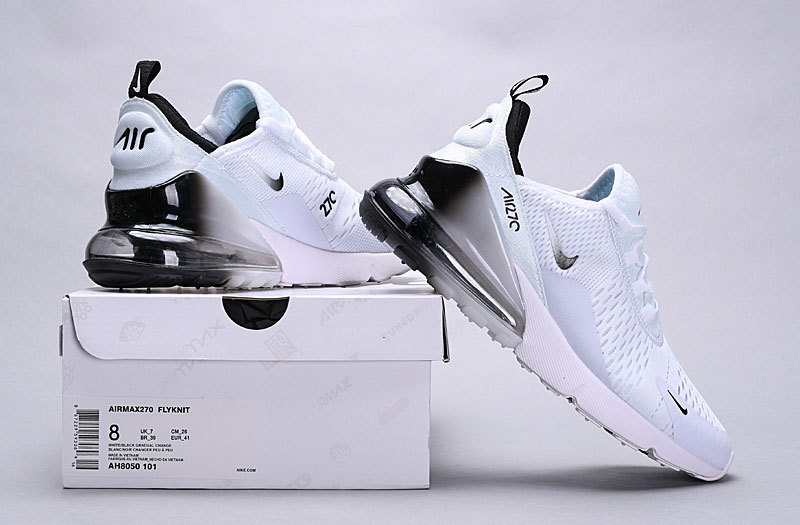 newest f8424 31677 Nike Air Max 270 White Black Spectrum AH8050-101 Women's Men's Casual Shoes  AH8050-101B