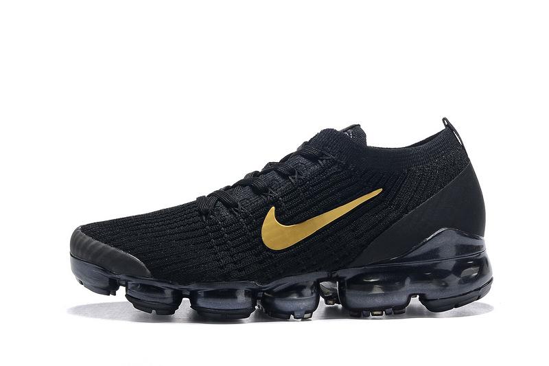 Nike Air Vapormax Flyknit 2019 Black Gold Men s Running Shoes NIKE ... 0e2aa2953
