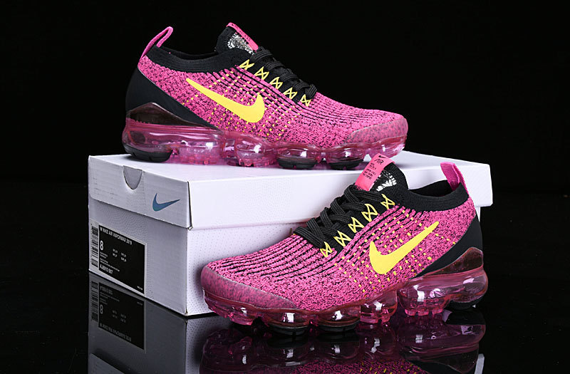 7be0e7871f0f Nike Air Vapormax Flyknit 2019 Black Vivid Pink Yellow AJ6900-105 ...