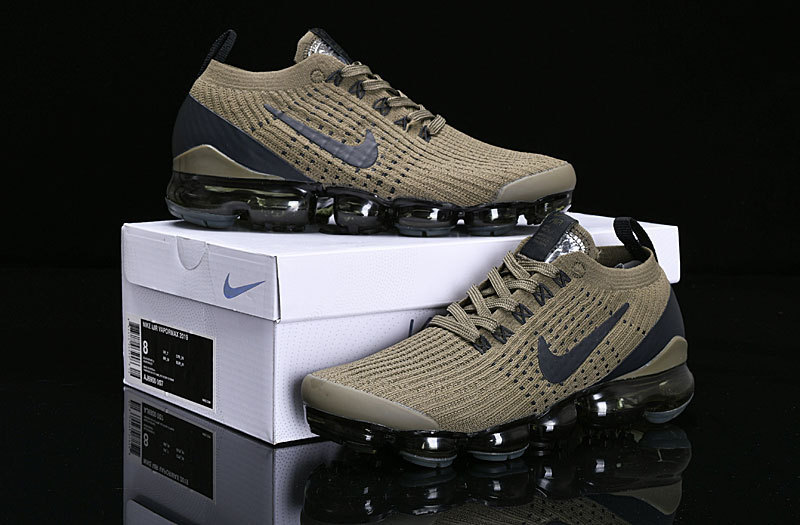 Nike Air Vapormax Flyknit 2019 Olive Green Black AJ6900 300 Women's Men's Running Shoes AJ6900 300