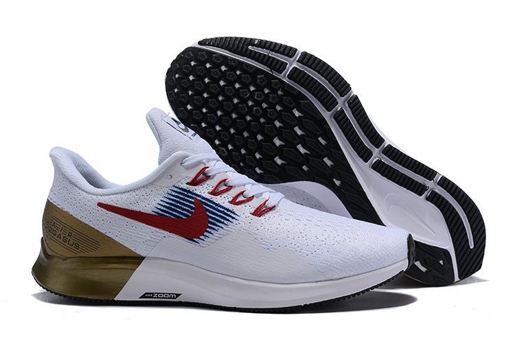 low priced aa34d 8a548 Mens Casual Shoes Nike Air Zoom Pegasus 35 White Red Gold AQ2792 905